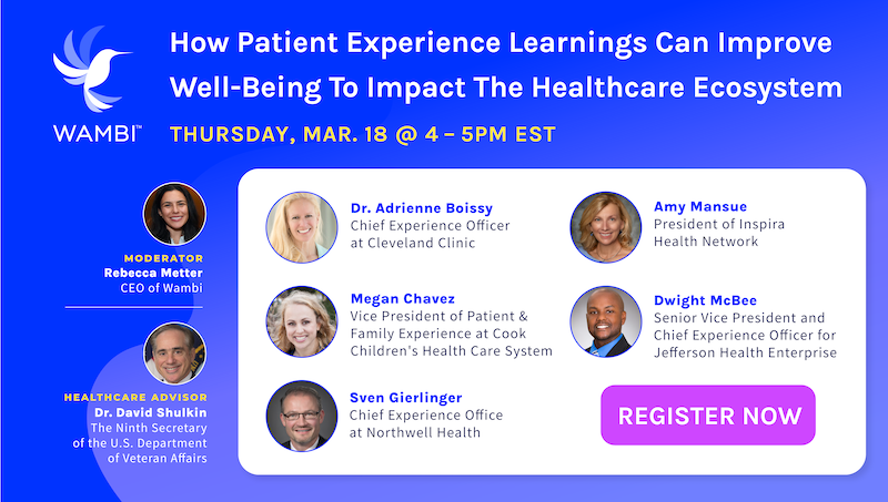 Wambi Events Patient Experience Learnings March Panel