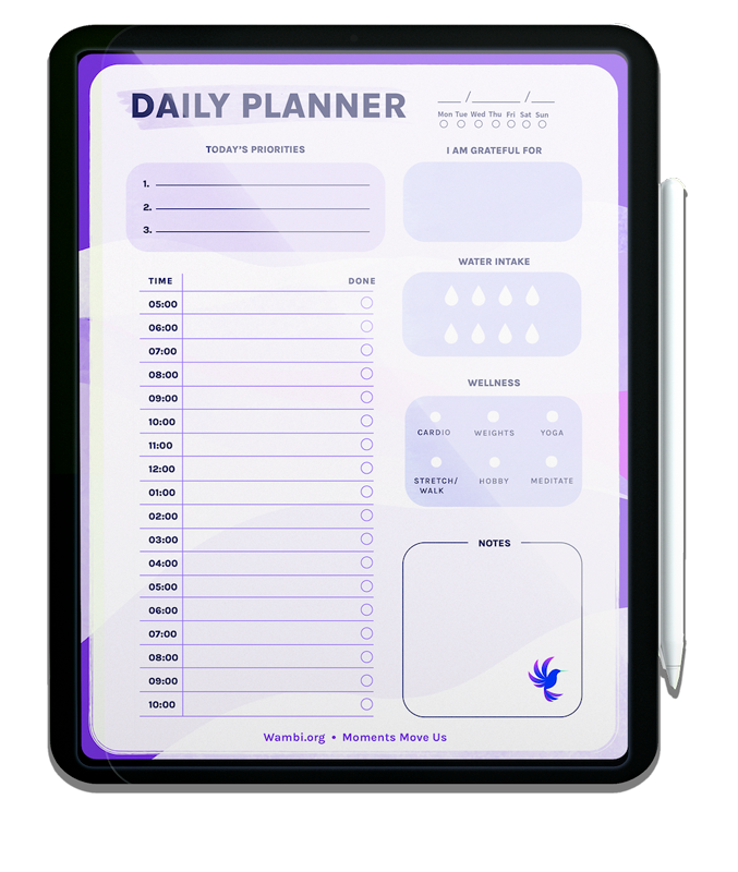 Wambi Daily Planner Mockup