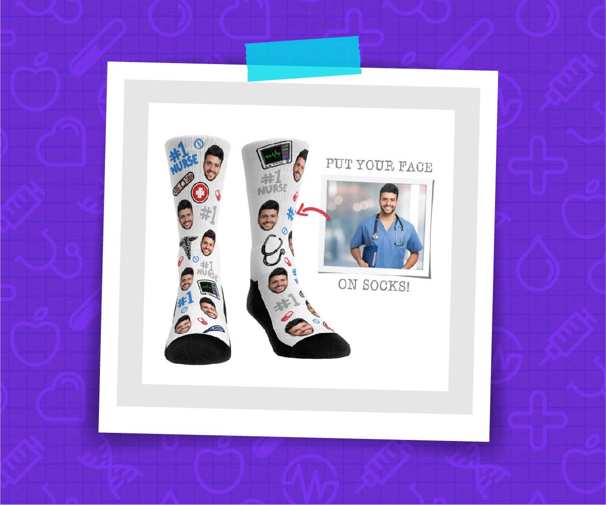Face Socks for The Best Nurse