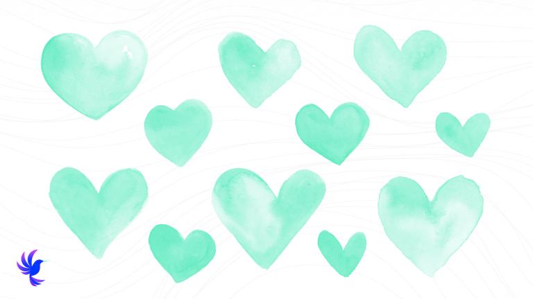 Wambi.org Free National Nurses Week Backgrounds Simple Hearts
