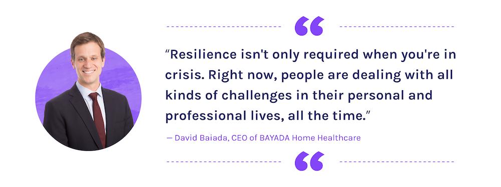 David Baiada on Building Resilience