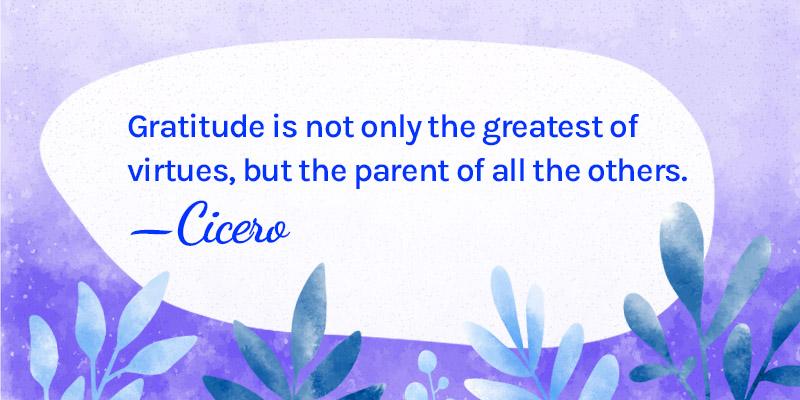 Emotional success through gratitude